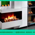 Электрокамины с эффектом живого огня