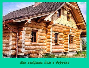 Как выбрать дом в деревне