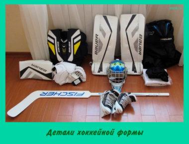 Детали хоккейной формы