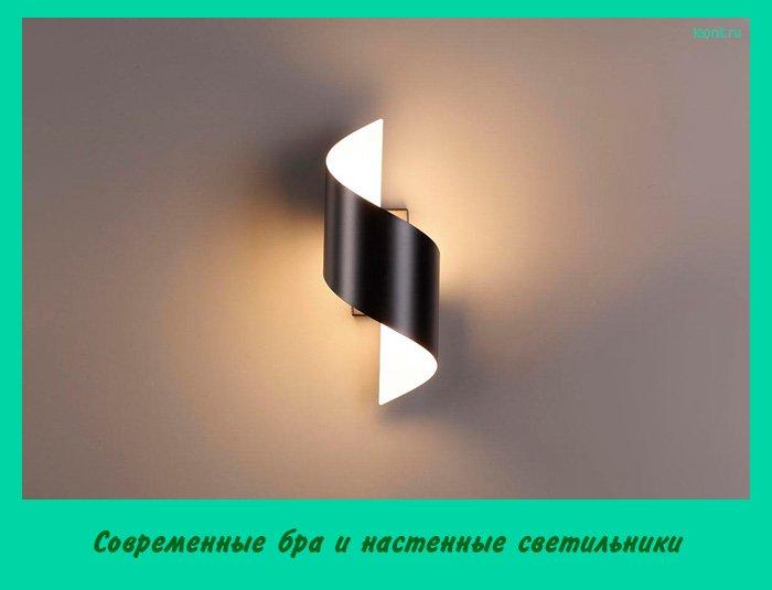 Современные бра и настенные светильники