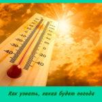 Как узнать, какая будет погода